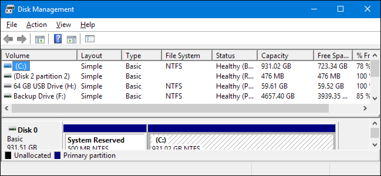 managing hard drive partitions
